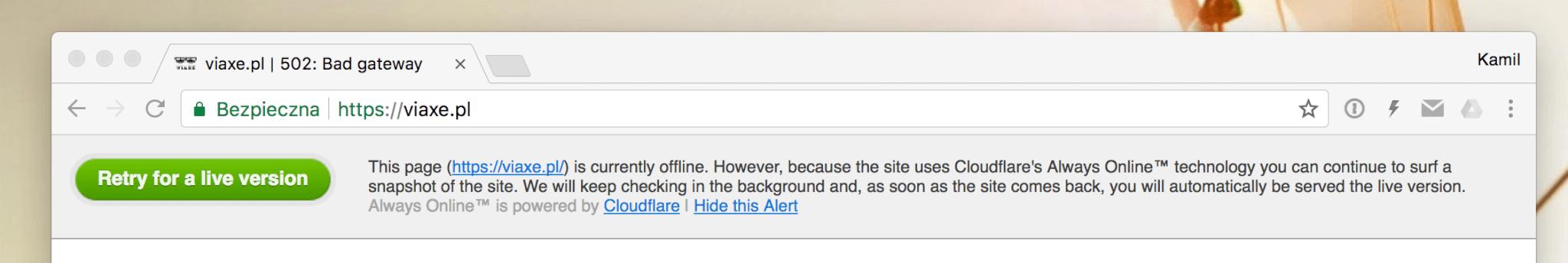 Always Online Cloudflare