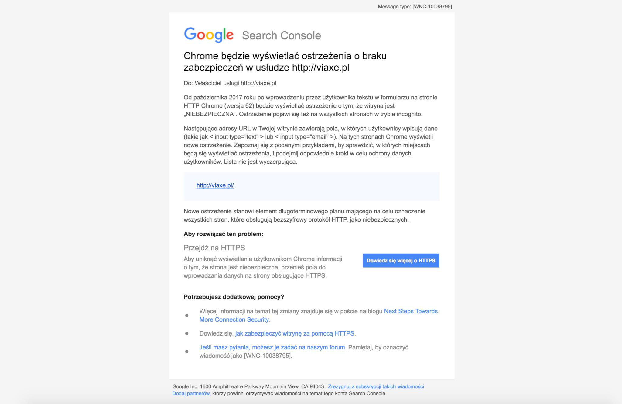 Chrome będzie wyświetlać ostrzeżenia o braku zabezpieczeń