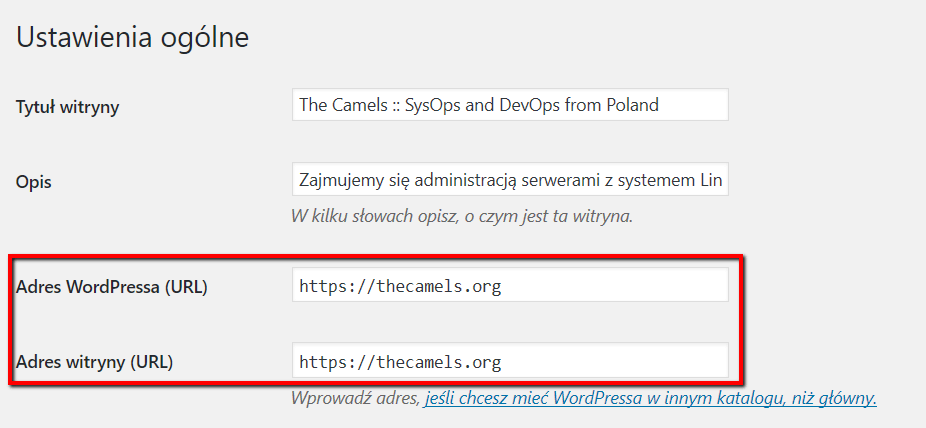 Set WordPress to work under SSL