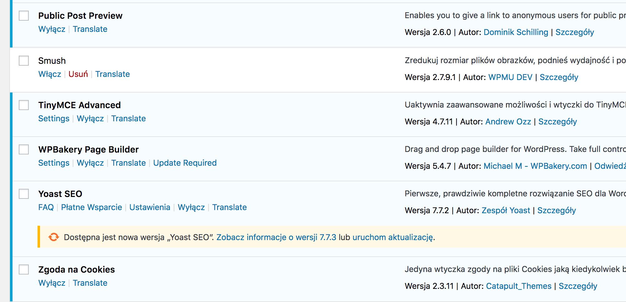 Wtyczki w WordPressie.
